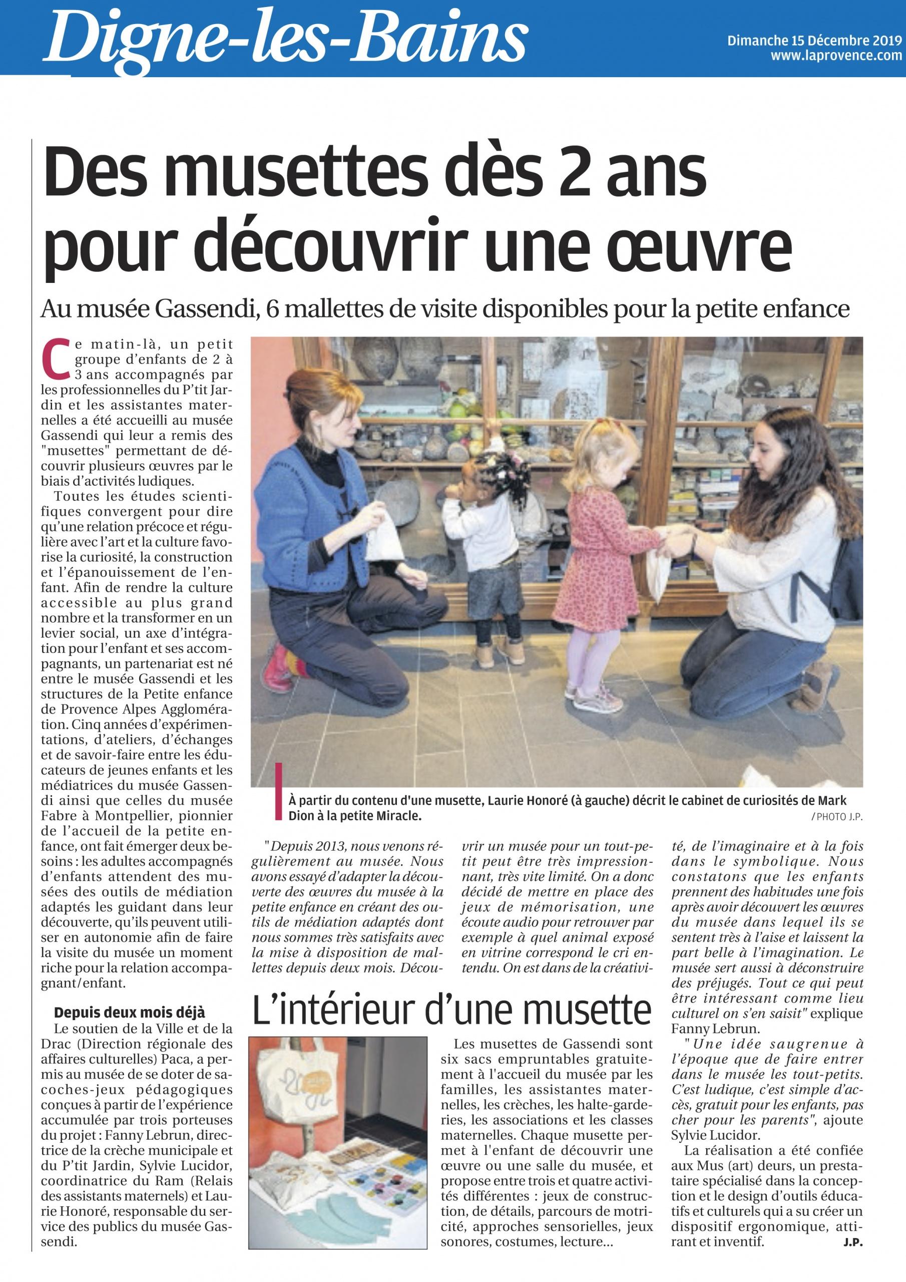 article La provence décembre 2019